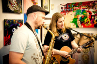 Alice James & Evan Francis - First Friday Pop Up Art Show & Music Showcase - Ward Nasse Gallery - SOHO NYC - April 2015