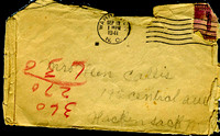 LETTERS FROM JANNETTE FIELDS (GREAT GREAT GRANDMOTHER) TO HELEN CALLIS (GRANDMOTHER) 1941