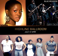 Azania Steady, Traces & Blue Meadow - Highline Ballroom - NYC - 2013