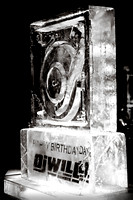 The ice sculpture @ DJ Will's (Power 105.1 FM) BDay @ Room Service NYC