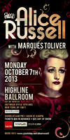 Alice Russell w Marques Toliver - Highline Ballroom - NYC - 2013