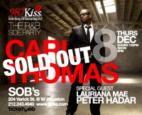 Carl Thomas w/ Lauriana Mae & Peter Hadar - SOB's - NYC - 2011