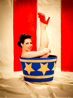 Rosabelle Salavy - NY Pin Up Club - Circus Sideshow - Vintage Vanga Photography Studio - NYC - 2015