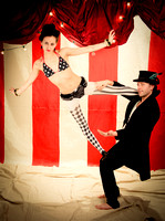 Rob Williams & Joey Dillon - NY Pin Up Club - Circus Sideshow - Vintage Vanga Photography Studio - NYC - 2015