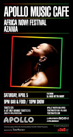 Azania w/ Bajah + The Dry Eye Crew - Africa Now! Festival - Apollo Music Cafe - NYC - 2014
