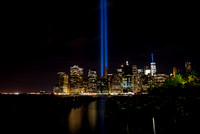 9-11 Tribute in Light - Pier 1 - Brooklyn Bridge Park - BK USA - 2016